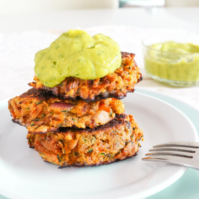 PAPRIKA COURGETTE FRITTERS