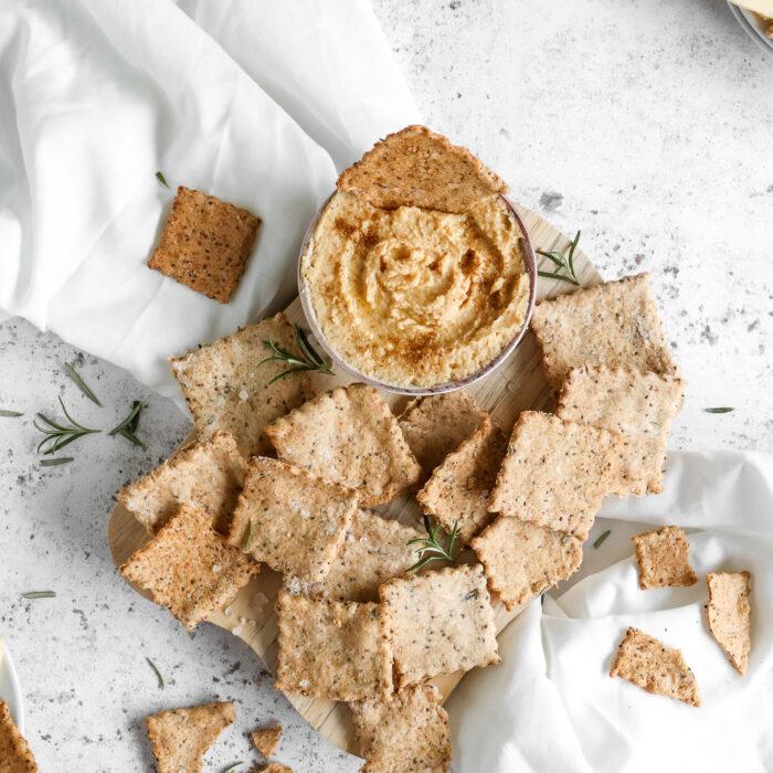 Healthy Gluten Free Rosemary Crackers