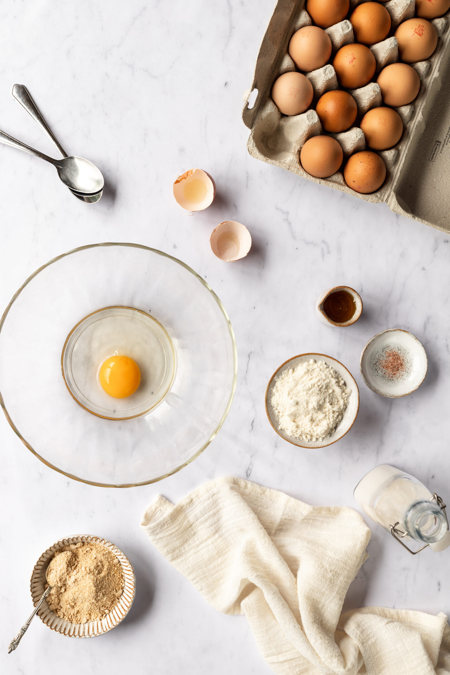 Baking Flatlay, Elle Frizzell Food Photography