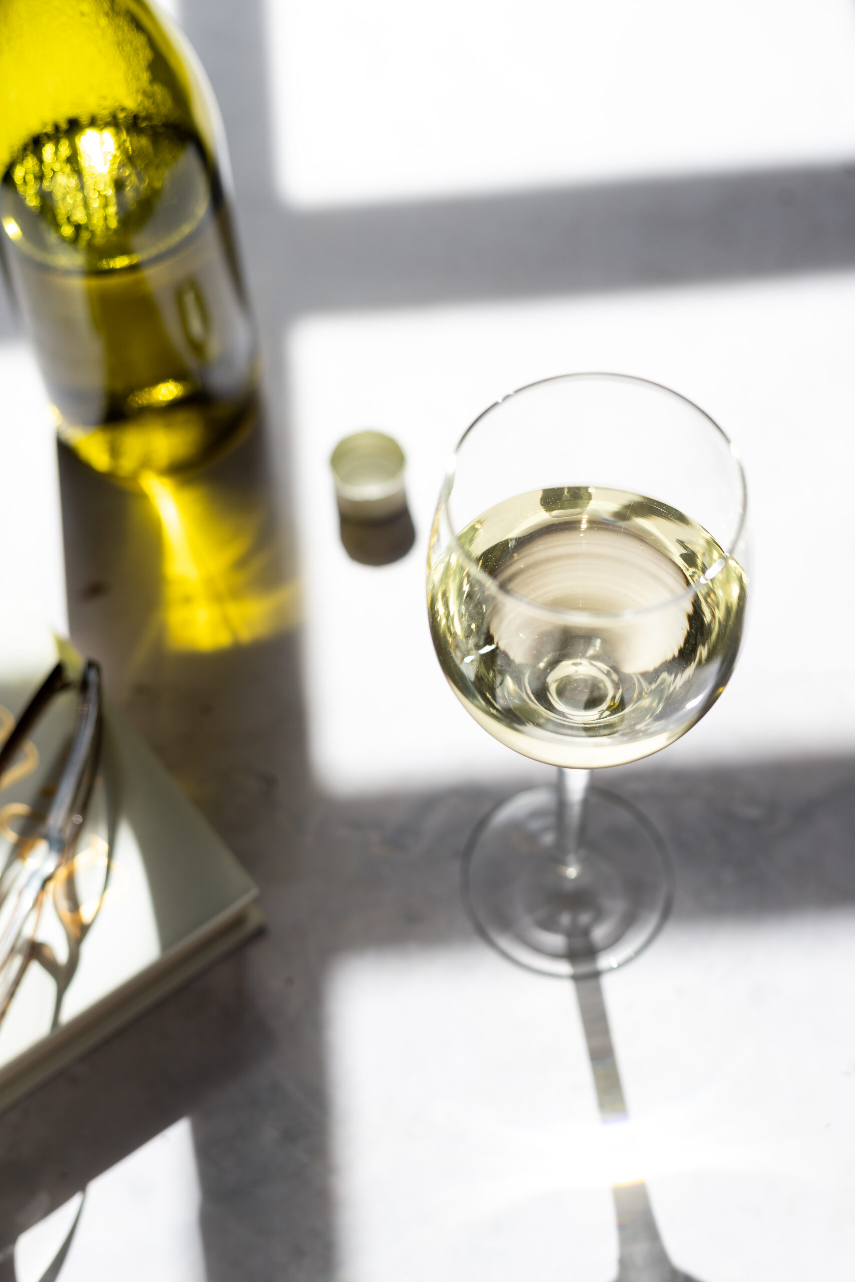 White Wine, Food Photography by Elle Frizzell